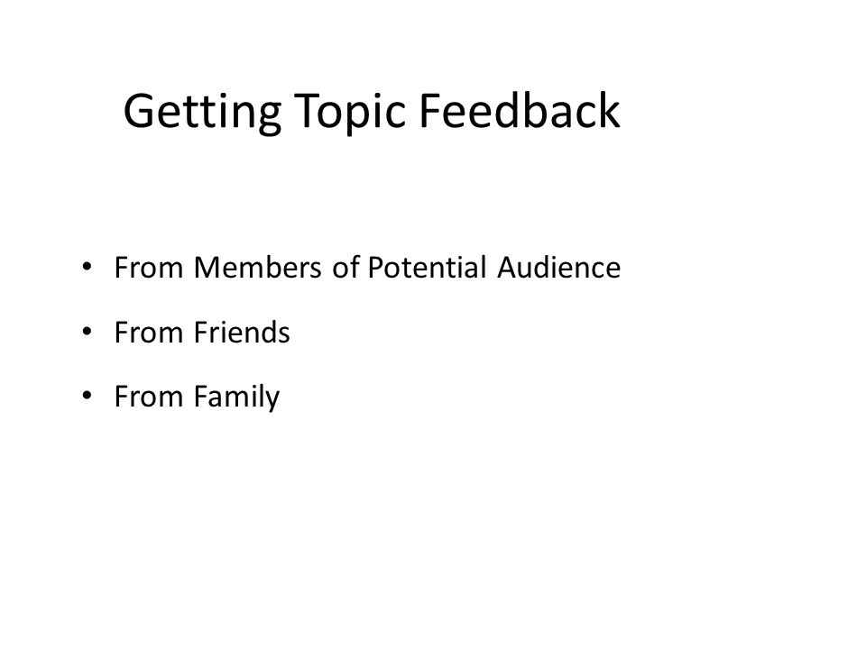 Getting Topic Feedback