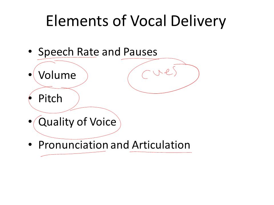 Elements of Vocal Delivery