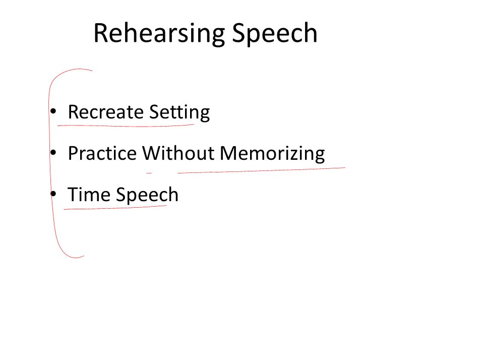 Rehearsing Speech Recreate Setting Practice Without Memorizing