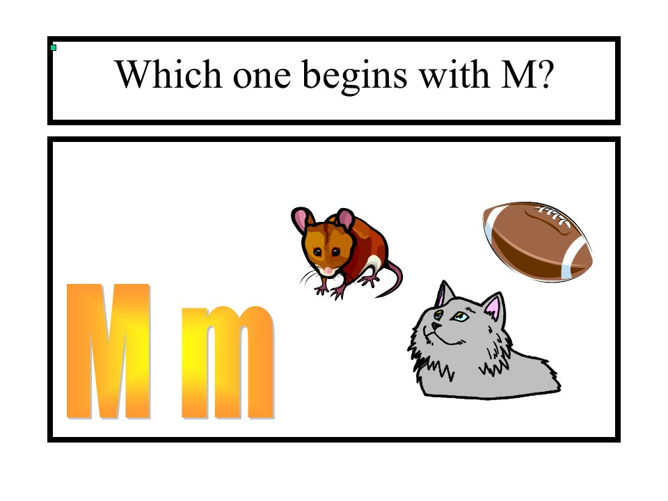 Which one begins with M M m
