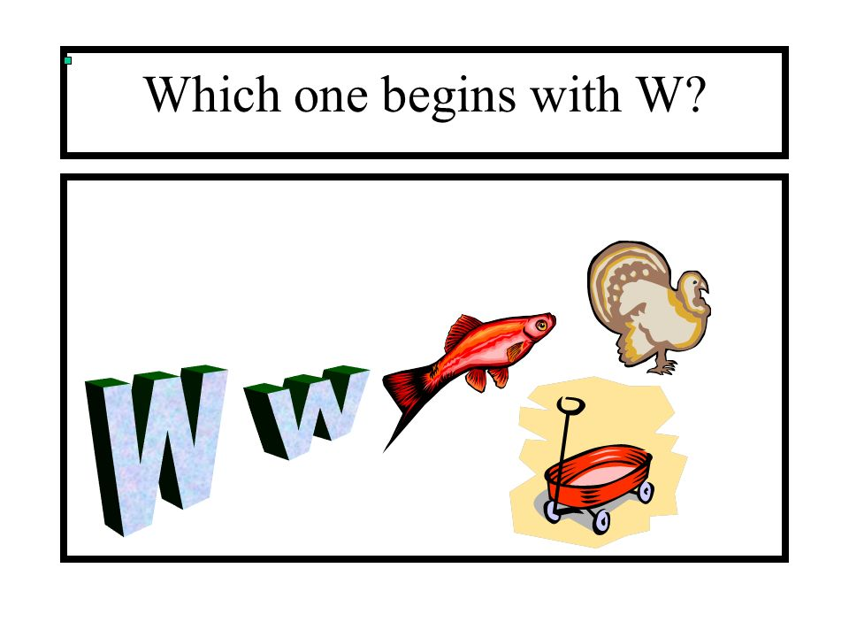 Which one begins with W W w