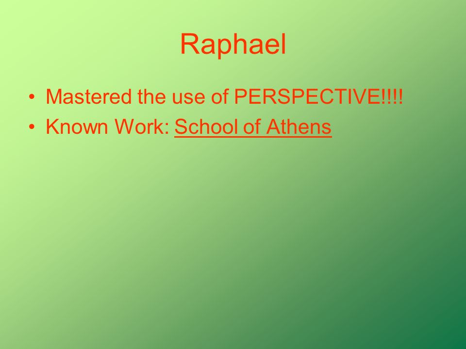 Raphael Mastered the use of PERSPECTIVE!!!!