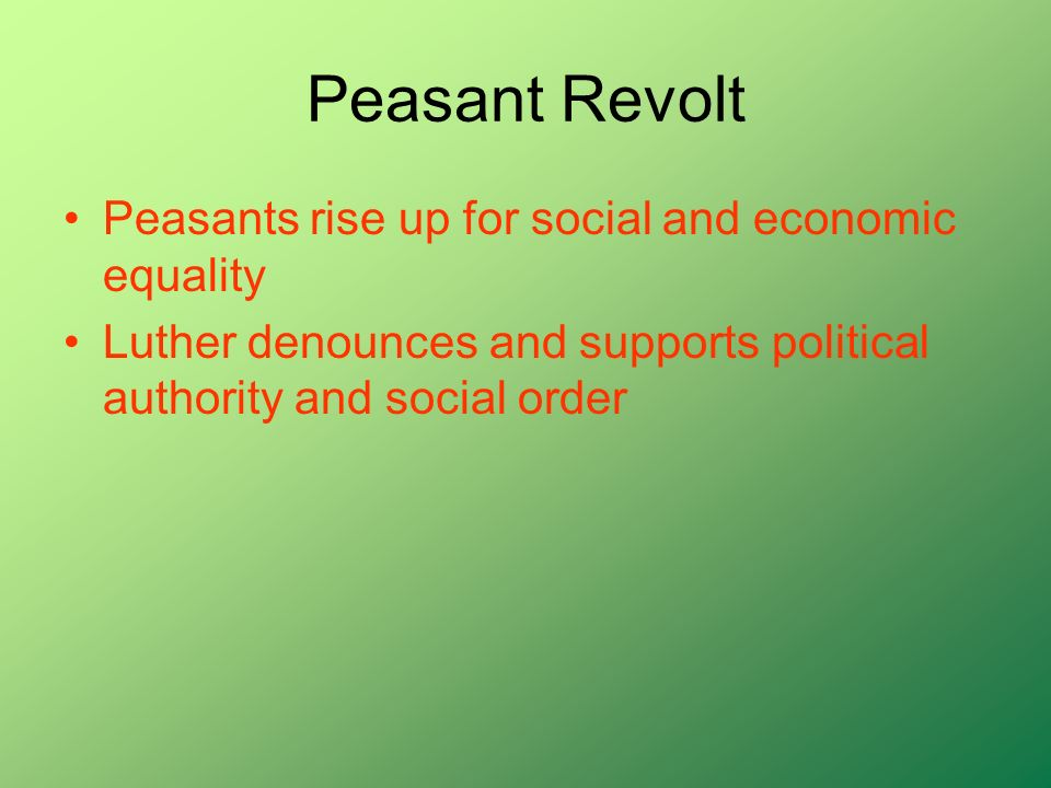 Peasant Revolt Peasants rise up for social and economic equality