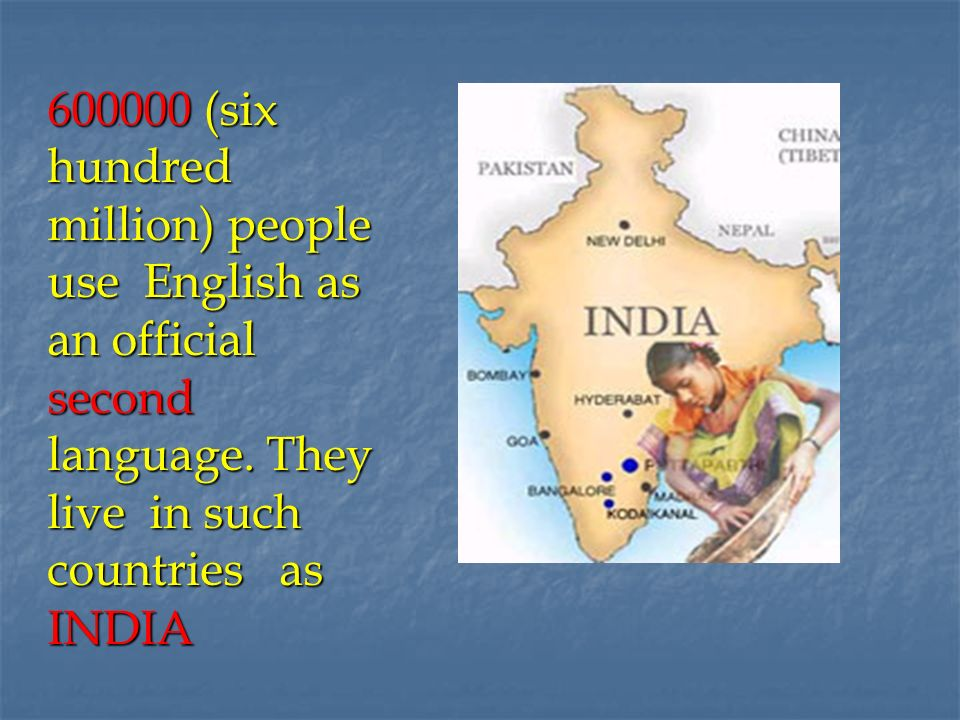 essay on english as an official language in india This map shows countries where english is an official language english is a west germanic language that arose in england and south-eastern scotland in the time of.