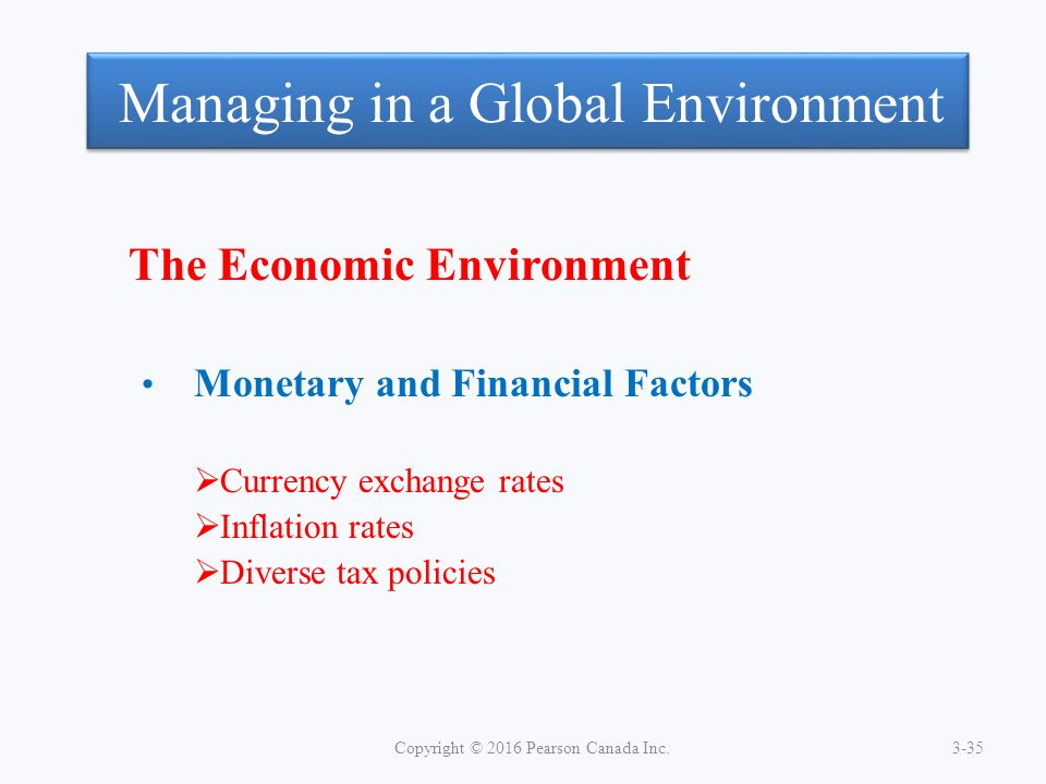 economic policy and the global environment What is a 'macro environment' a macro environment is the condition that exists in the economy as a whole, rather than in a particular sector or region in general, the macro environment includes trends in gross domestic product (gdp), inflation, employment, spending, and monetary and fiscal policy.