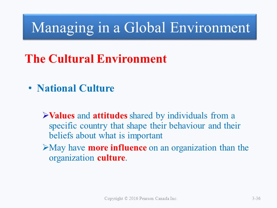 business and cultural environments shape the As culture is the essence of a society, this chapter will concentrate on a  discussion of it only  in task and doing business were breaking down and this  meant that standardisation  all these groups may affect the marketer in his  planning.