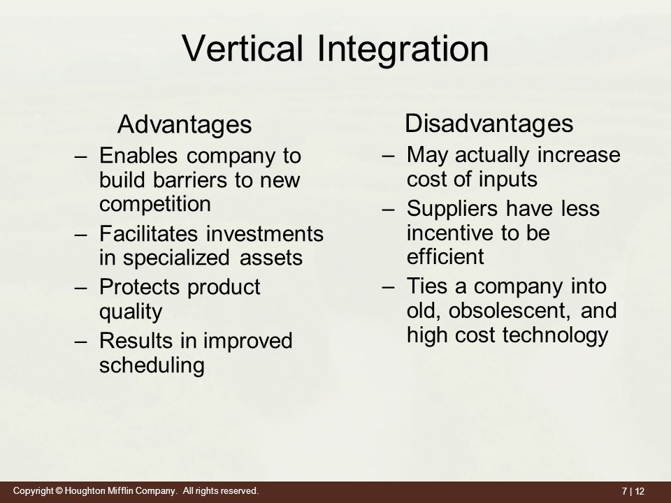13 Advantages And Disadvantages Of Vertical Integration
