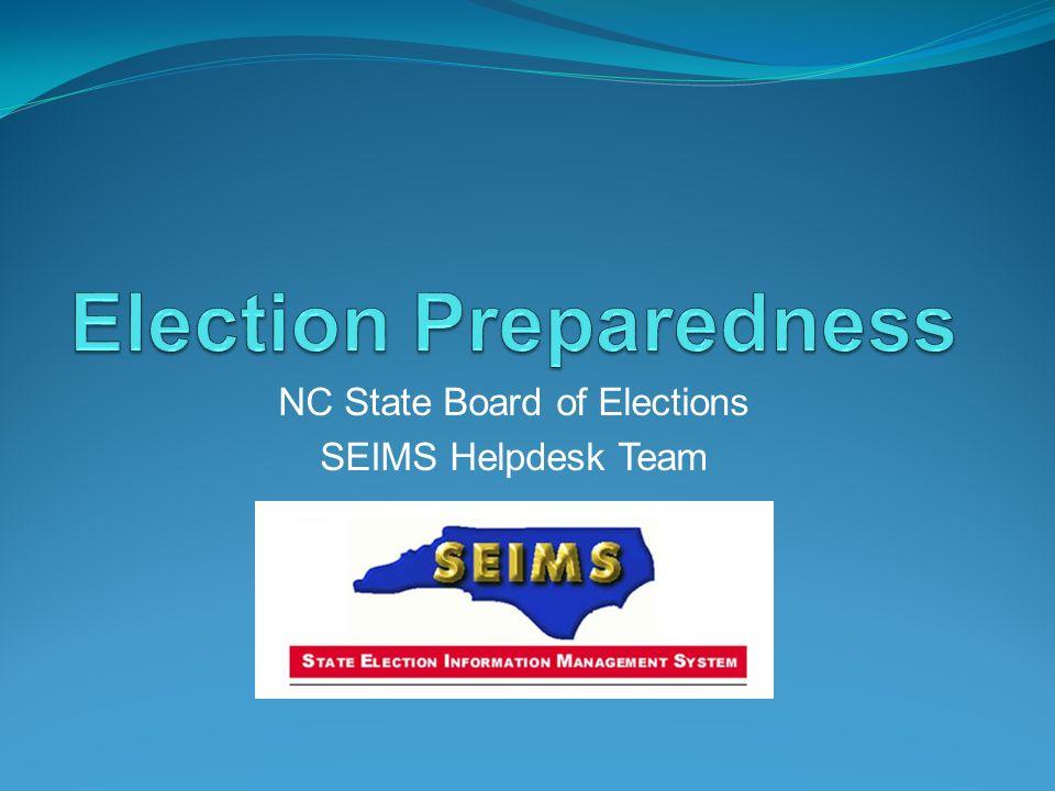 Election Preparedness