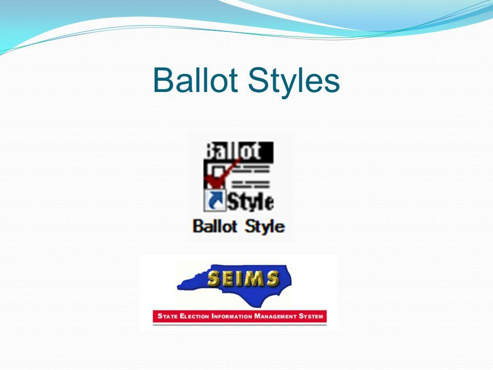 Ballot Styles