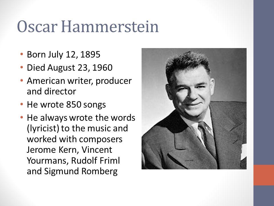 Image result for oscar hammerstein dies