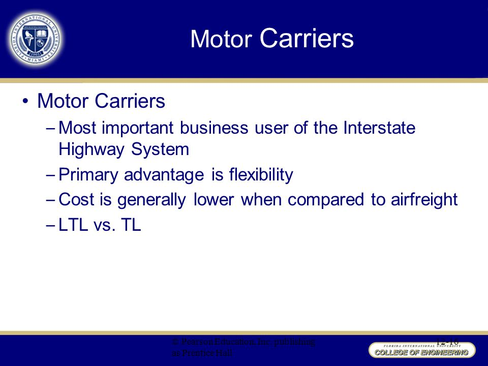 Motor carrier act of 1935 for What is a motor carrier number