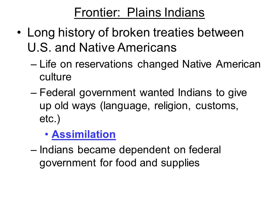 Frontier: Plains Indians