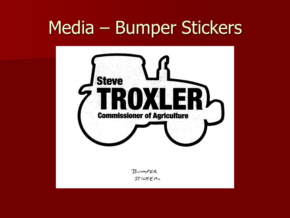 Media – Bumper Stickers