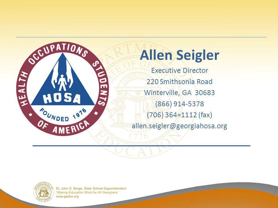 Allen Seigler Executive Director 220 Smithsonia Road