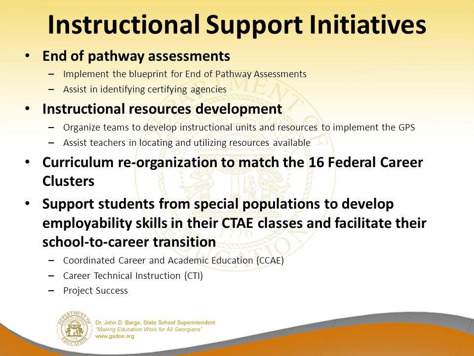 Instructional Support Initiatives