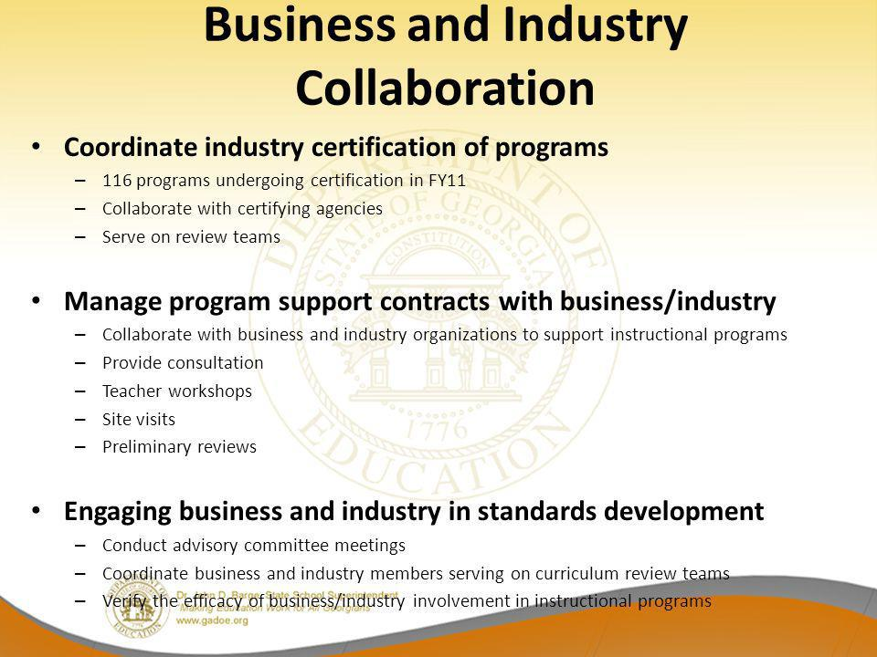 Business and Industry Collaboration