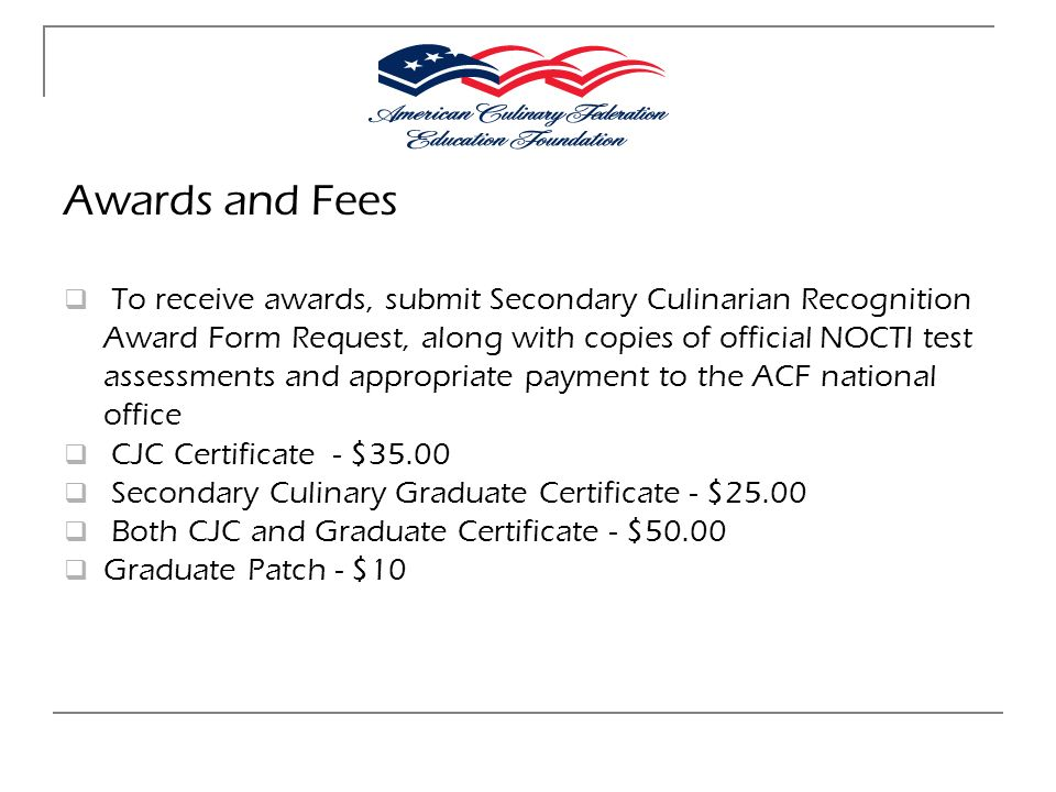 Awards and Fees