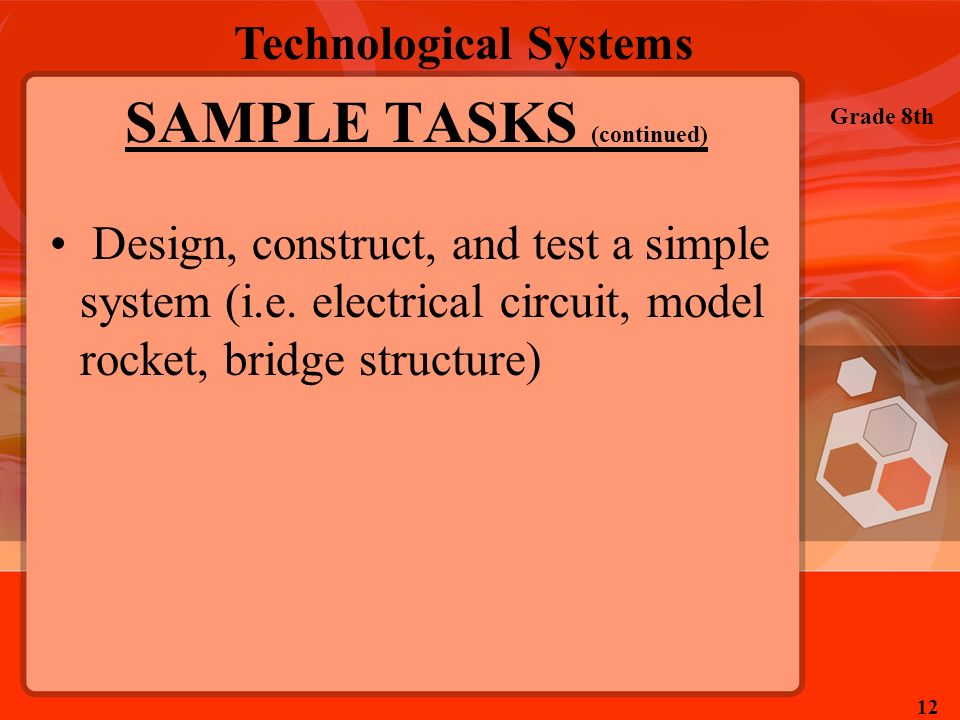 SAMPLE TASKS (continued)