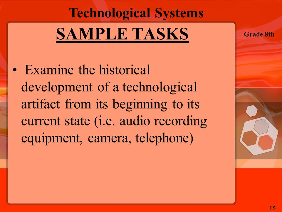 SAMPLE TASKS