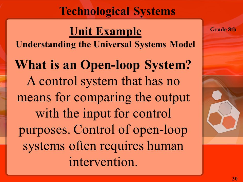 Understanding the Universal Systems Model What is an Open-loop System