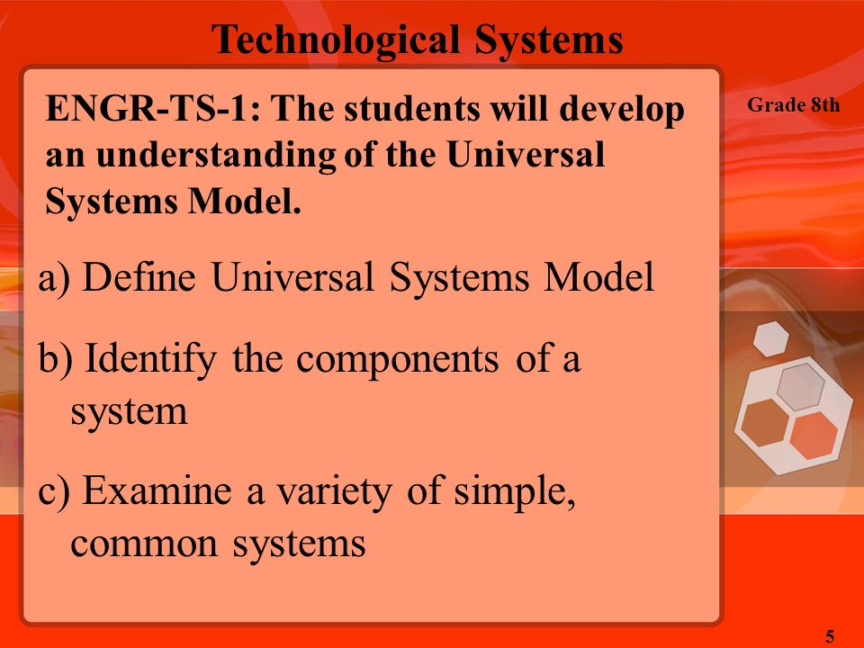 Define Universal Systems Model Identify the components of a system