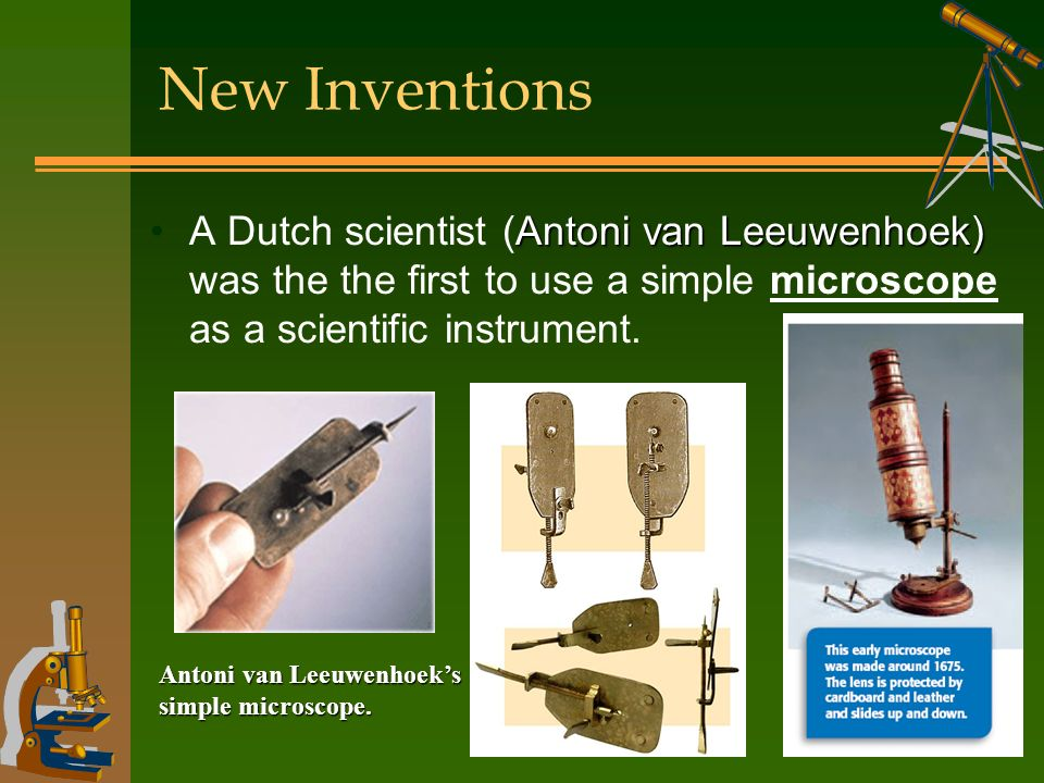 An analysis of the scientific discoveries with the instrument microscope
