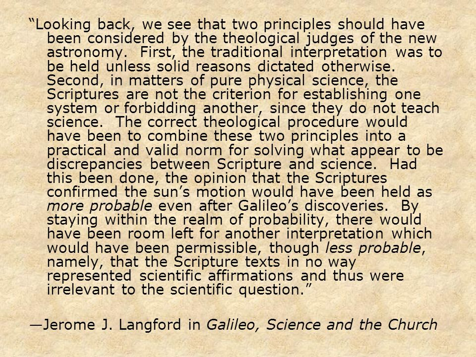 a review of jerome j langfords galileo science and the church A penetrating account of the confrontation between galileo and the church of rome   galileo, science, and the church jerome j langford snippet view - 1966 galileo, science, and the church jerome j langford snippet view - 1966 galileo, science, and the church.