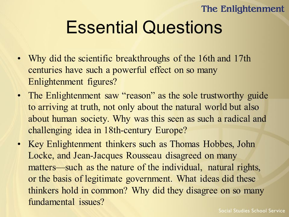 the radical ideas brought by the enlightenment era Get an answer for 'how did the enlightenment ideas lead to the french revolution' and find homework help for other history questions at enotes.