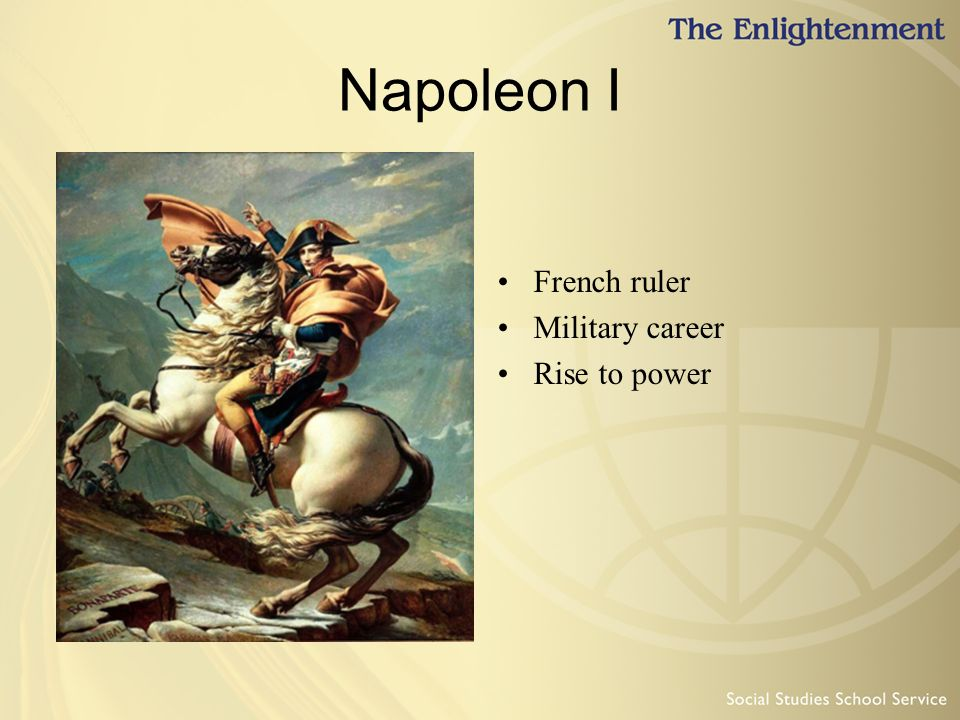 napoleon was a child of the enlightenment Start studying napoleon was a child of the enlightenment assess the validity of this statement learn vocabulary, terms, and more with flashcards, games, and other study tools.