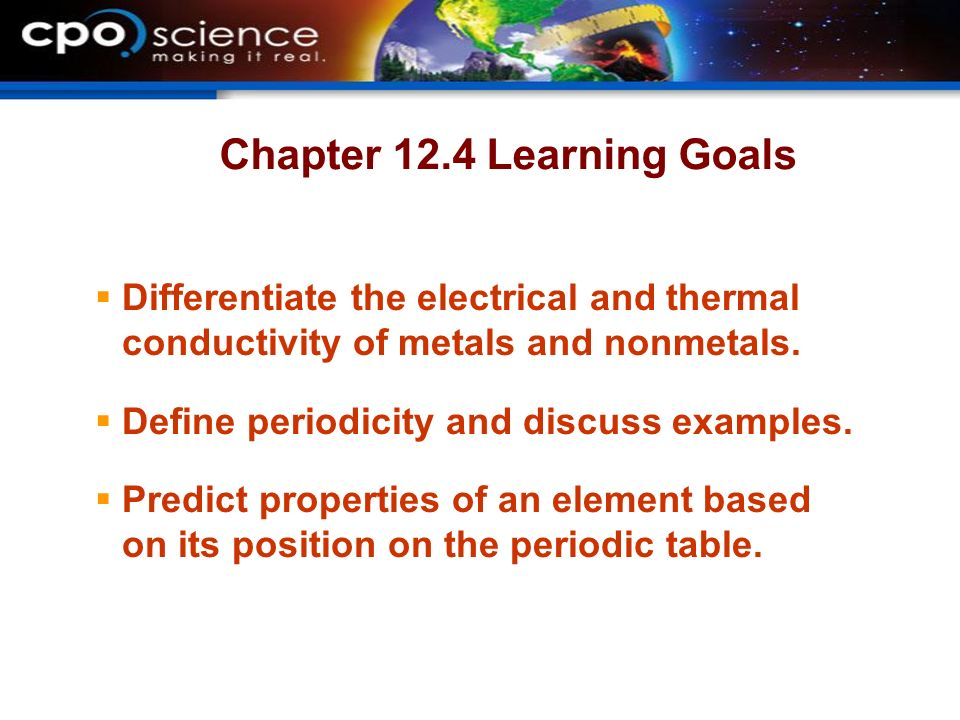 thermal and electrical conductivity relationship goals