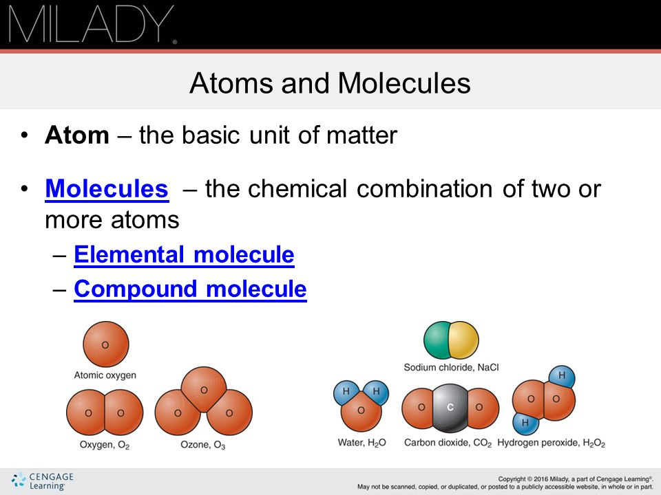 chemistry atom and matter