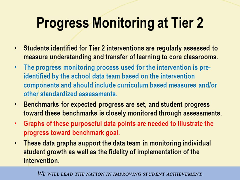 Progress Monitoring at Tier 2