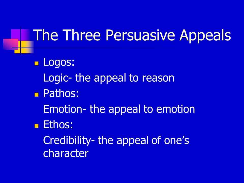 The Three Persuasive Appeals