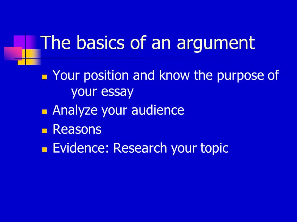 The basics of an argument