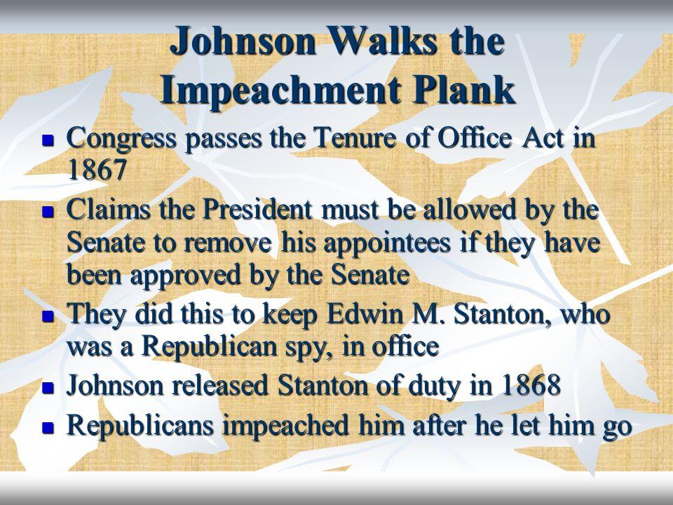 Johnson Walks the Impeachment Plank