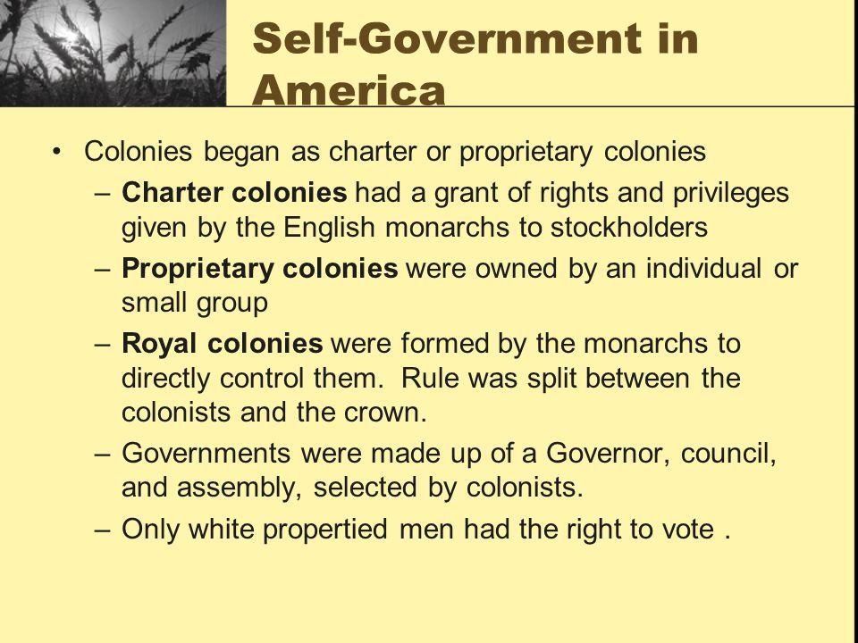 Self-Government in America