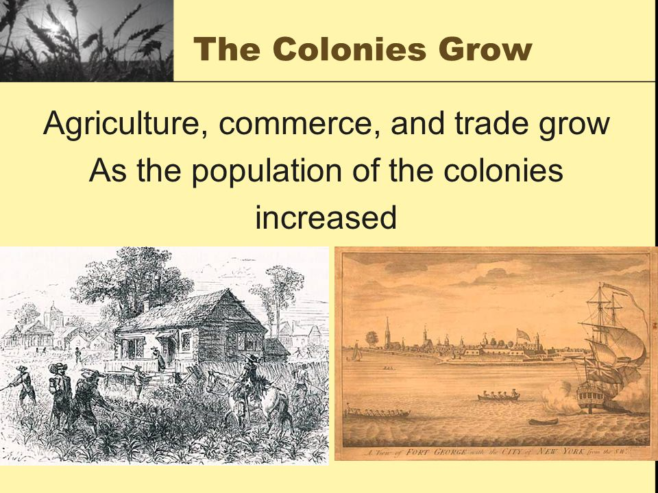Agriculture, commerce, and trade grow