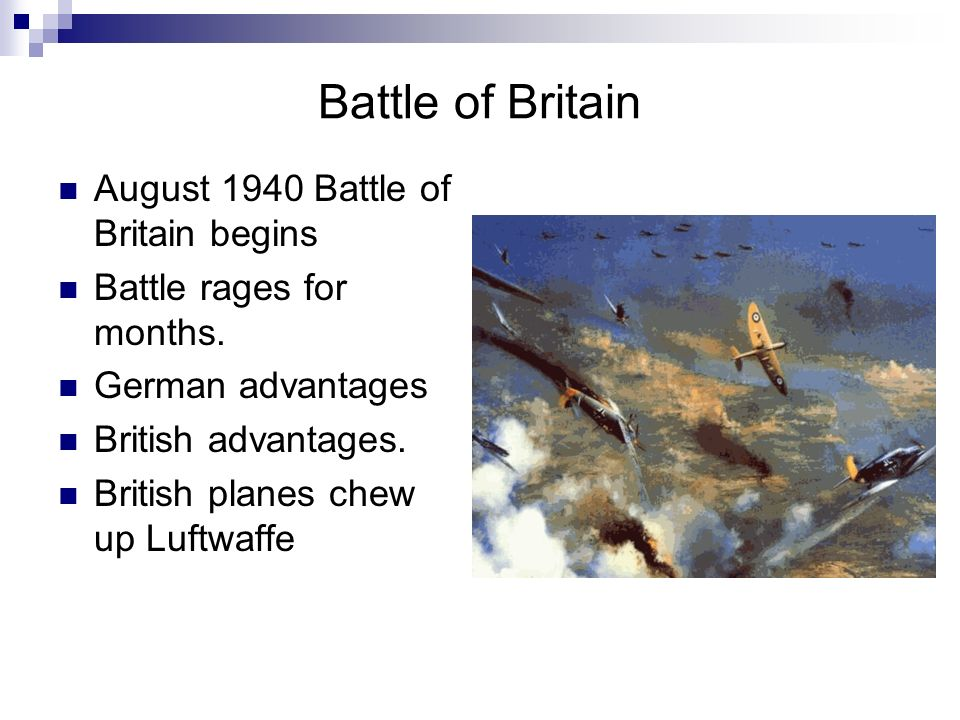 Battle of Britain August 1940 Battle of Britain begins