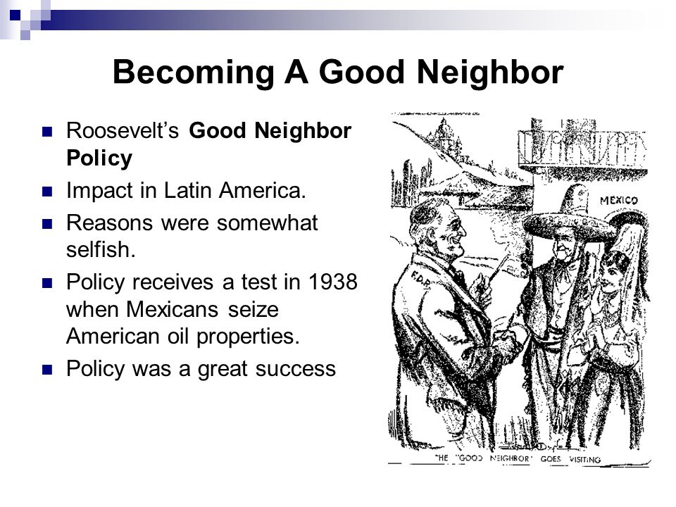 Becoming A Good Neighbor