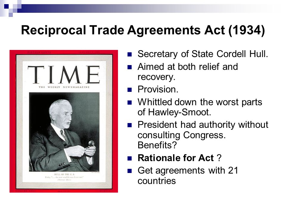 Reciprocal Trade Agreements Act (1934)