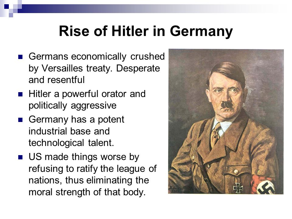Rise of Hitler in Germany