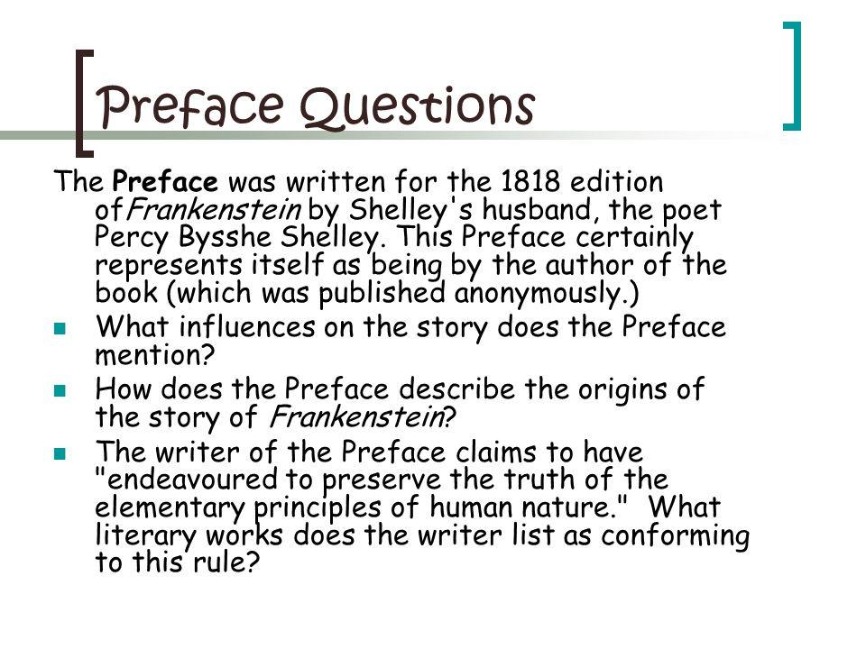 Preface Questions