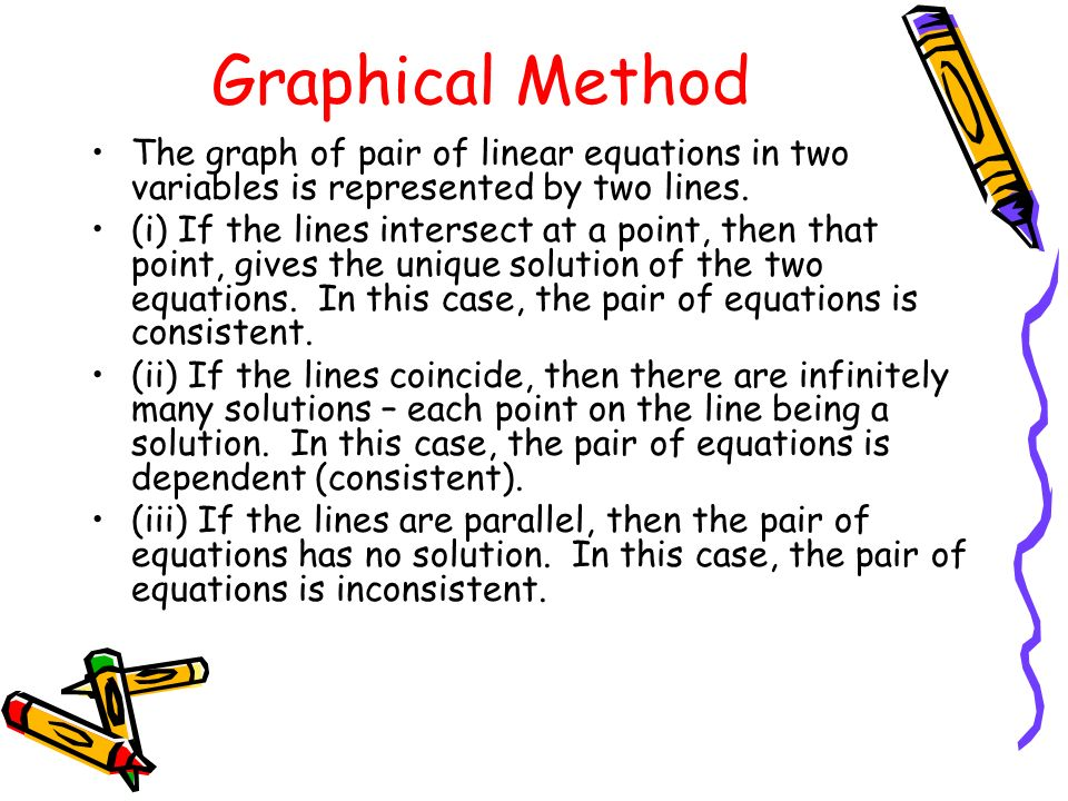 how to solve linear equations with two variables