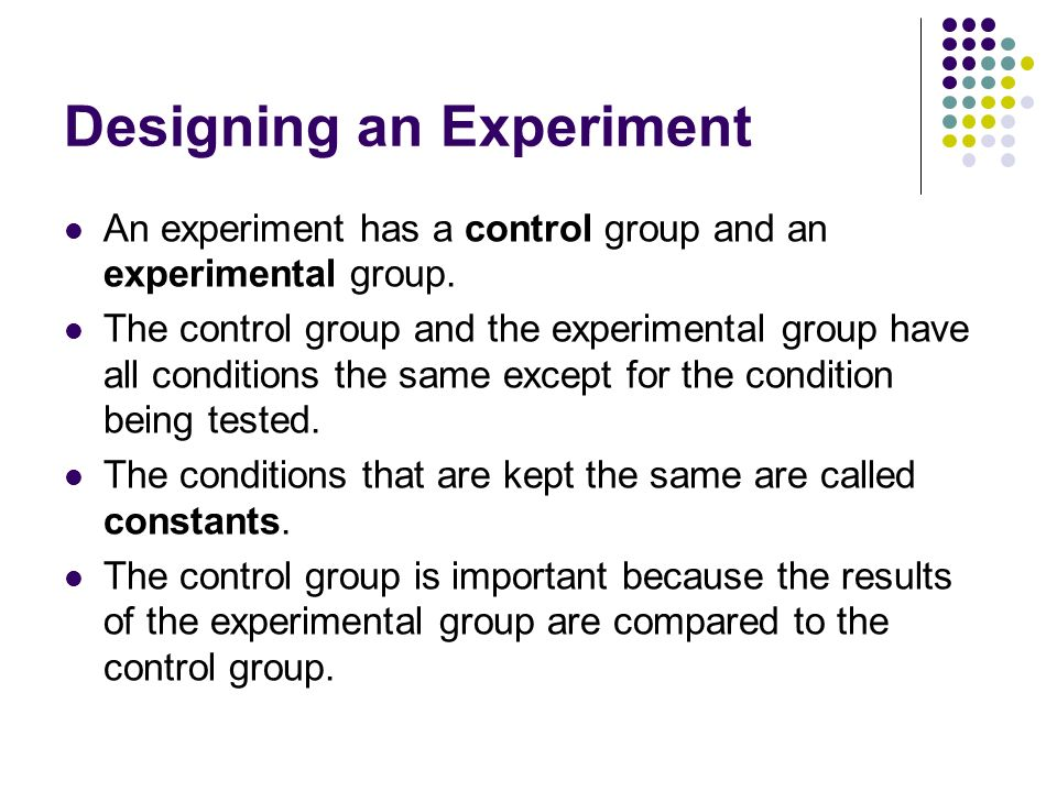 Designing an Experiment