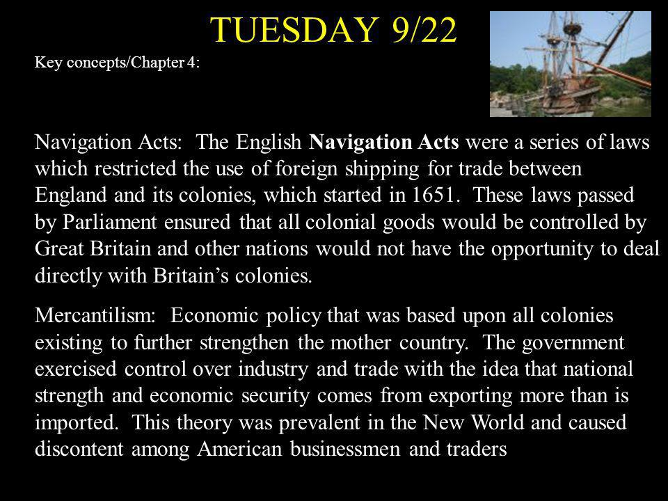 TUESDAY 9/22 Key concepts/Chapter 4: