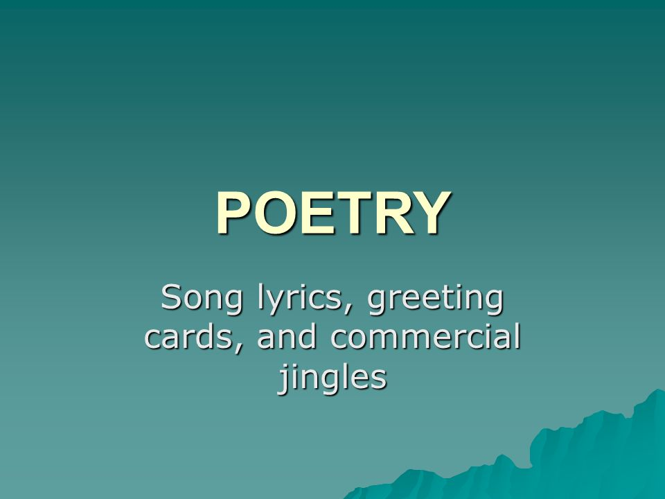 Song lyrics greeting cards and commercial jingles ppt video song lyrics greeting cards and commercial jingles m4hsunfo