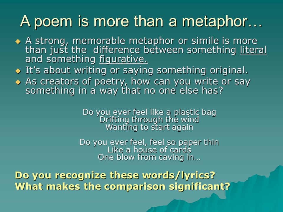 difference between song lyrics and poetry The poem must rely solely on words alone, their sounds and meanings, mystery, and space, the silence between the words certainly, a lyric can rely on the same forces to find its power but lyrics are also supported by that other mysterious sonic experience: music.
