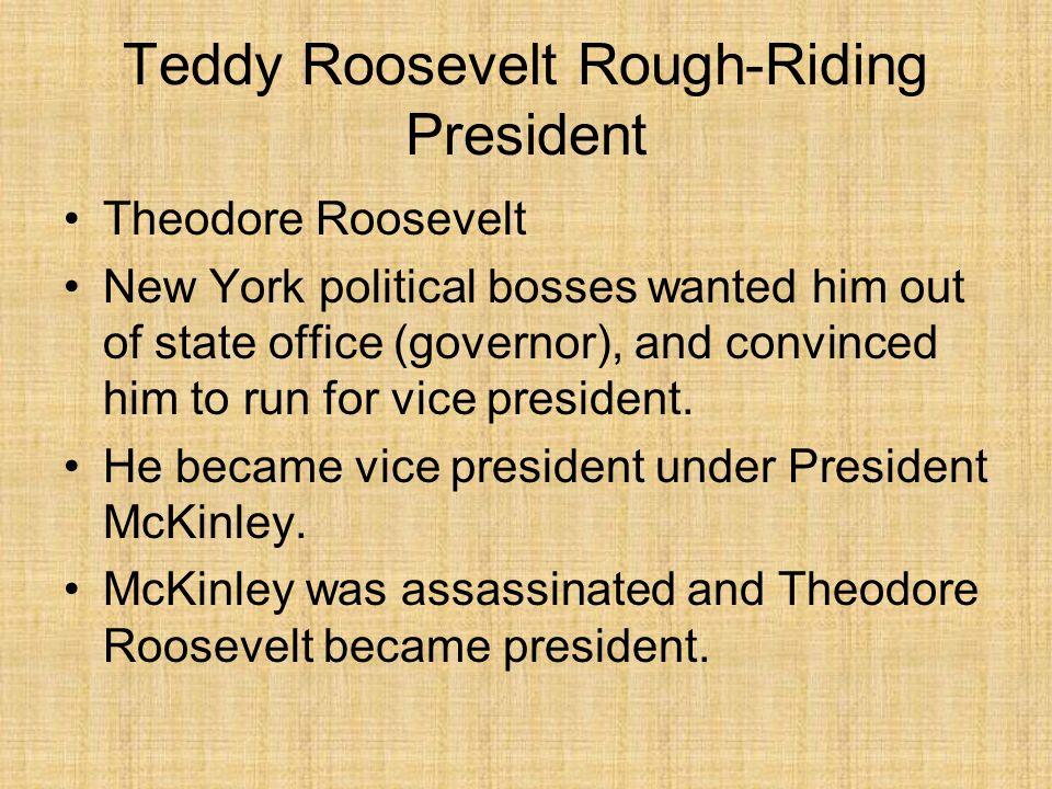 Teddy Roosevelt Rough-Riding President