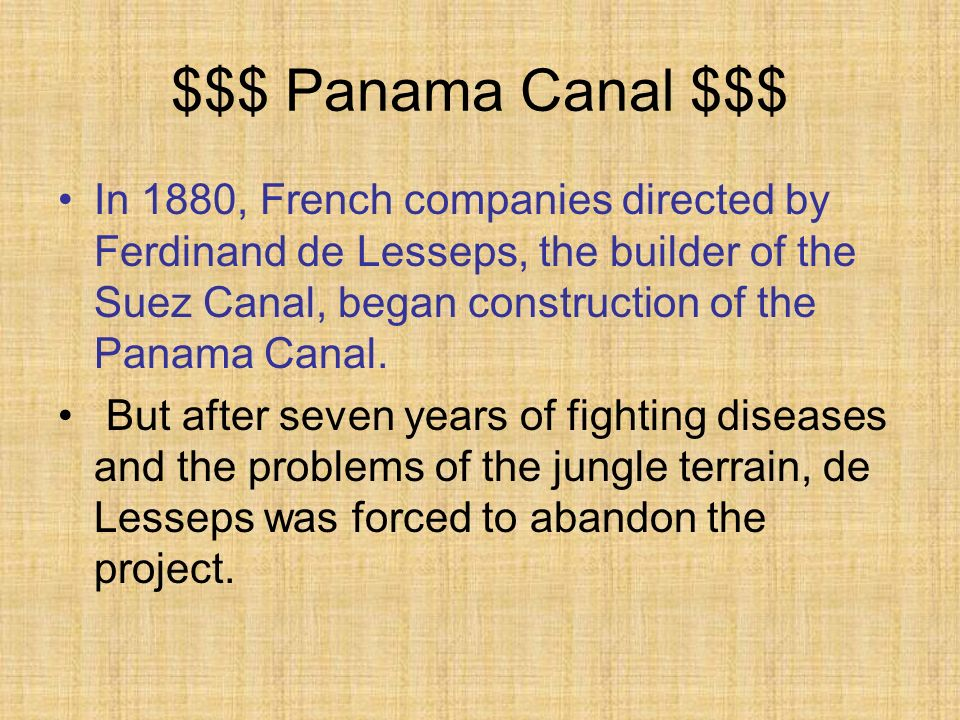 $$$ Panama Canal $$$