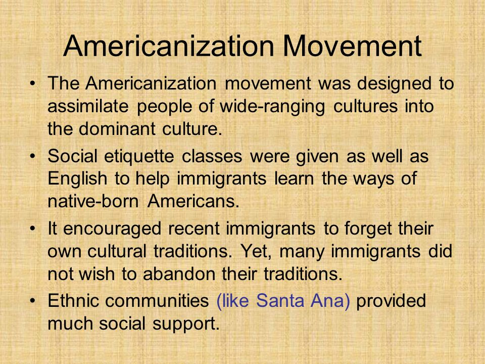Americanization Movement